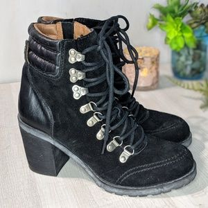 Lucky Brand Joss Leather Lace Up Booties 7